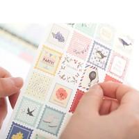 Free Shipping/New DIY vintage endulge imitation cloth series paper sticker/8 sheets per set/Decoration label/wholesale
