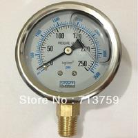 """Stainless steel Pressure gauge Manometer meter 1/4""""BSPT 60mm Dia 0~250kg/cm2(0~3500Psi)"""