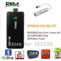MK802 IIIS Mini PC,Mobile Remote Control RK3066Cortex A9 1GB RAM 8G ROM Bluetooth HDMI TF Card & USB HUB+USB LAN