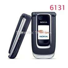 Refurbished Original Nokia 6131 Filp Unlocked Mobile Phone Quad Band Phone Russian Keyboard Free Shipping