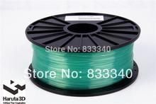 Transparent green 3d printer filaments PLA 1.75mm/3mm 1kg/spool plastic Rubber Consumables Material MakerBot/RepRap/UP/Mendel
