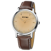 Beautiful and generous fashion comfortable lovers watch waterproof leather wristwatches strap noctilucent pointer
