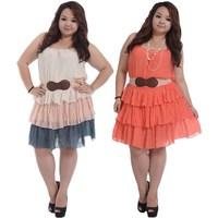 2014 New XL XXL 3XL Fashion Plus Size Women Clothing Summer Big Size Camisole Dress Fat Dress+ Free Plus Size Belt Gift 637