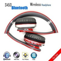 Wholesale & Retail S450 Foldable Wireless Bluetooth Stereo Headset Headphones Mic For iphone Samsung HTC Support TF Card