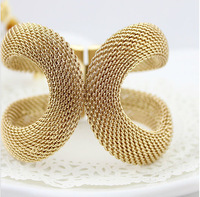 Min order 10 USD,Free Shipping, New gold color Hollow out X shape Punk Style Metal Bangle
