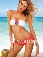 New 2014 Fashion Women sexiest lingerie swimwear Push Up vintage Strapless Bikini set brand Brazilians wimsuit swimwear
