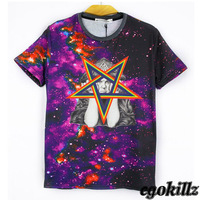 New in 2014 dgk yeezy pyrex shirt Egokillz five-pointed star black-and-white portrait T-shirt short-sleeve tee  shirts man
