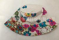 2014 New Children Caps Flower Summer Sunbonnet Embroider Bucket Hats Baby Hat  Beach Cap size 50,52,54cm