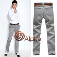 2014 Summer New Arrival Men Slim Fit Casual Long Pants Fashion Stylish Male Quality Long Trousers gray grey 28-28