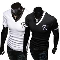 2014 New Male Chinese Clothes Fashion Tees,Men T Shirt,Mens Short Sleeve T-shirtsTop Brand Men's Shirts,Drop Plus Size: XXXL,4XL