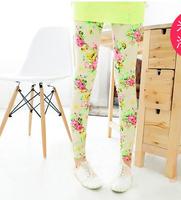 free shipping high quality 1pc retail 2-7 years girl flower 2014 baby pants leggings kids leggings for girls