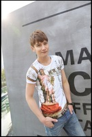 New 2014  men's clothing  short-sleeve  T-shirt sports casual fashion trend of the ash hiphop  100% cotton t shirt man