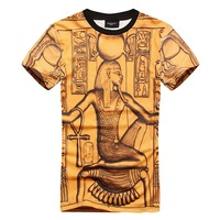 New 2014 Summer fashion  pray for national trend paris oil painting pattern short-sleeve T-shirt men's clothing  100% cotton