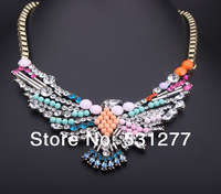 Big star in Europe and the United States exaggerated stained glass crystal eagle rhinestone necklace necklace + tree means