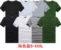 Short-sleeve men's clothing summer clothes boys Men men's male t-shirt blank solid color basic