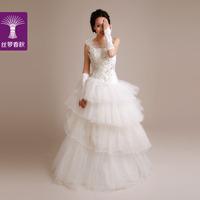 2014 new wedding dress/ one shoulder strap waist dress/ princess wedding dress