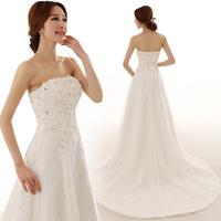 2014 new wedding dress/short trailing dress/glass diamond dress /