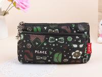 2014 Free shipping new fashion high quality black Denim cartoon shopping handbag ladies storage cosmetic bags