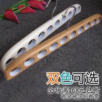 10 beech circle silk scarf necklace strap storage wood hanger multifunctional slip-resistant