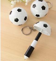 Offer lovely plastic football shape pen  Min order 500pcs