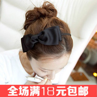 Free shipping  hair accessory Elegant ribbon big bow hairbands Fabric headband Beautiful hair ornaments 2014 new hair decoration