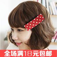Free shipping 5pcs/lot  Dot fabric hair clips Multi color hairpin Hot-sale women hair accessories Unique Barrette 2014  Hairgrip
