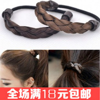 Free shipping 6pcs/lot Straight hair twisted braid wig hair bands Special rubber bands Nice women hair holders 2014 new hair tie
