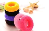 Free shipping 10pcs/lot Fashion high quality elastic hair band Candy color headband Popular women hair accessories Soft hair tie