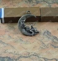 50pcs/lot Zinc alloy bead Antique Bronze Plated Charms Pendants Fit Jewelry Necklace Findings 20*24MM Angel Shape JJA3311
