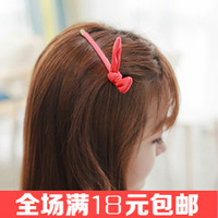 Free shipping 2pcs/lot  Chiffon rabbit ears hairpin Sweet hair clip Elegant women hair accessories Hot-sale hair Barrette Basin