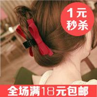 Free shipping  Fashion fabric bow hairpins Elegant hair accessories Nice women hair claws Beautiful hair clips New Hairgrips