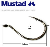Fishing Hook 4# Mustad Sharp Hook 10pcs/lot