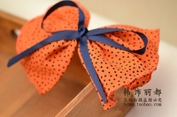 free shipping Dot Heart oversized bow tie catcher cloth hair