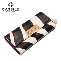 Cassile long design female wallet fashion hasp wallet clutch fashion color block day clutch