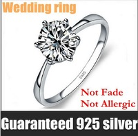 Wholesale 100% Real 925 Sterling Silver Super Zircon Nice Wedding Ring.TOP quality.