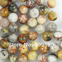8mm 100pcs/lot Genuine Natural Crazy Lace Agate Stone  Round Loose Spacer Beads