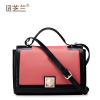 Free shipping-2014 fashion women's handbag color block handbag shoulder bag messenger bag small bags