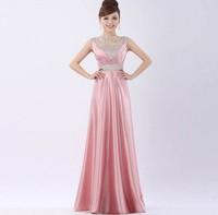 Sexy Double-shoulder Long Design  Party Dress 2014 Autumn New Fashion Plus Size Slim V-neck  Empire Toast Dresses Items