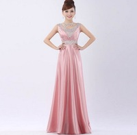 Sexy Double-shoulder Long Design  Party Dress 2014 Autumn New Fashion Plus Size Slim V-neck  Empire Toast Dresses Items