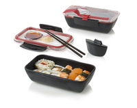 Black blum microwave oven heated cute lunch box lunch box