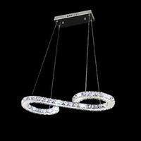 Crystal Bulb Included Led Pendant, Minimalist Modern Metal Plating