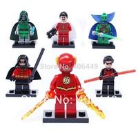 NEW 6PCS DECOOL Super HeroesThe Flash/Night Wing/Shazam/Martian Manhunter/Doctor Doom/Robin  T35