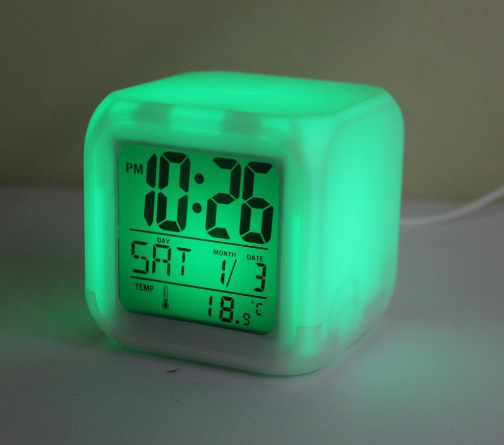 Hot Sale Led Clock Color Change Digital Alarm Clock