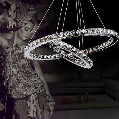 Luxus modernen crystal led pendelleuchte mit einzigartigen zwei Ringe