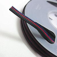 50M 4 Pin Extension RGB RGB + Black Wire Cable For 3528 5050 RGB LED Strip Light