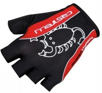 free shipping 2013 Castelli Rosso Corsa Bike Bicycle Fingerless Cycling Gloves