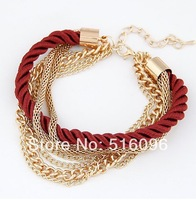 trendy style newest arrival Multi- key luxury woven bracelet bangle for women made with Copper alloy