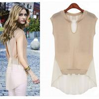 Plus size women's fluid summer long gown loose top