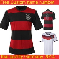 Germany soccer jerseys   2014 brazil world cup shirt home  away soccer jerseys 8 ozil football  customized free