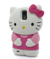 Hello Kitty Cat  Style Phone Cases Animal Soft Silicone Cell Phone Protector Cover Shell Skin for Galaxy S2 II T989